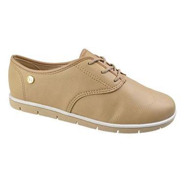 Sapato Oxford Moleca Sardenha Bege Feminino
