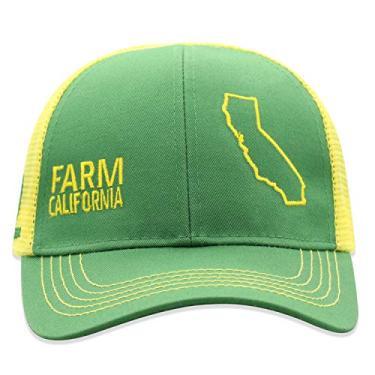 John Deere Boné infantil de malha com parte de trás do estado do orgulho da fazenda, Califórnia, tamanho �nico