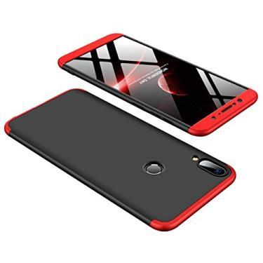 Capa para Asus ZB601KL, YINCANG destacável 3 peças design estrutural fosco combinação de policarbonato rígido fosco fosco capa protetora para Asus ZenFone Max Pro M1 ZB601KL preto e vermelho