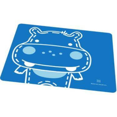 Jogo Americano Em Silicone Marcus & Marcus Hipopótamo Azul