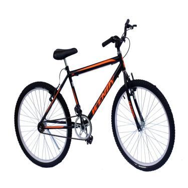 Bicicleta Aro 26 Mtb Wendy Sem Marchas Cor Preto Adesivo Laranja