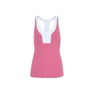 811c574a85 Camiseta Regata com Proteção Solar UV Fila Plaids - Feminina - ROSA Fila