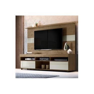 Imagem de Rack com Painel para TV até 60 Polegadas Samba Espresso Móveis Avelã/Off White