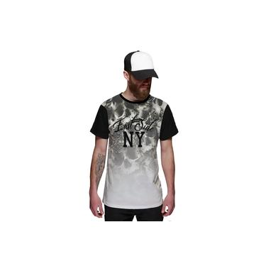 Camiseta Masculina Flowers Caveira Floral East Side New York