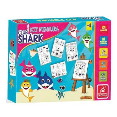 Imagem de Kit de Pintura Club Shark - Brincadeira de Criança