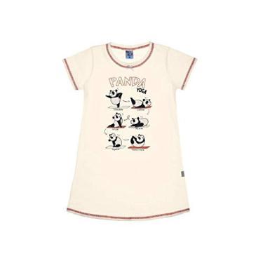 Camisola Infantil Menina Panda Yoga Pulla Bulla Ref. 42709 Cor:Creme;Tamanho:4