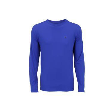 Camiseta Manga Longa com Proteção Solar UV Line CT Esporte BR - Masculina -  AZUL Uv 5e033c32ec1e9