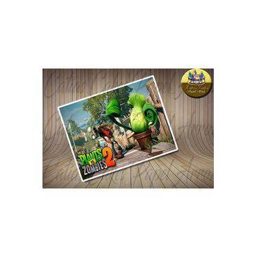 Plants vs Zombies Papel de Arroz Comestível A4 Retangular 20x30cm MOD. 01