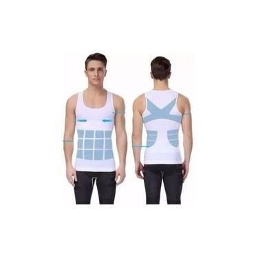 camiseta Cinta Modeladora Masculina Postura Medidas