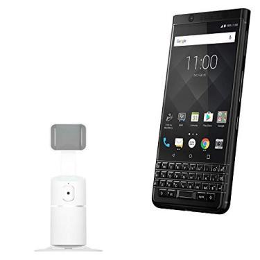 Suporte e suporte para BlackBerry Keyone, BoxWave [PivotTrack360 suporte para selfie] suporte de pivô de rastreamento facial para BlackBerry Keyone – Branco inverno