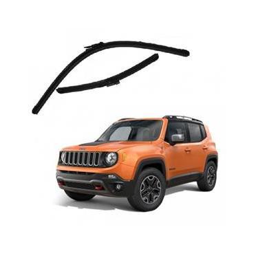 Kit Palhetas Limpador de Parabrisa Dianteiro Jeep Renegade Sport Ano 2016 - Atual