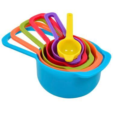 Colheres Medidoras para Receitas com 6 Unidades Plastica Coloridas