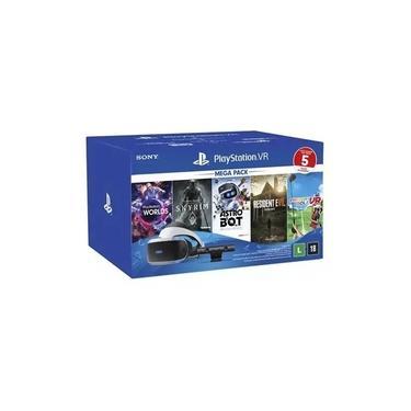 Playstation VR Mega Pack Nacional para PS4 + 5 Jogos
