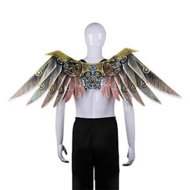 Imagem de Toyvian Acessórios para fantasia de dragão com asas de carnaval, acessórios para fantasia de fada Steampunk para adultos