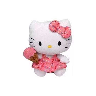 Imagem de Pelúcia Hello Kitty Sorvete Beanie Babies Ty Pronta Entrega