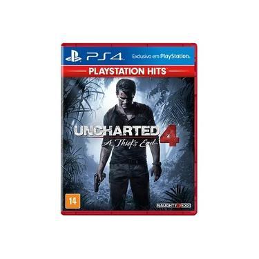 Game Uncharted 4 A Thief's End Hits - PS4 - dublado em português