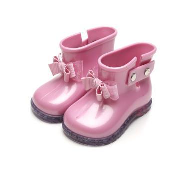 Bota Pimpolho Infantil Laço Rosa Pimpolho 0027837C menina
