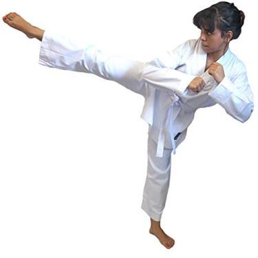 Dobok Kimono Taekwondo Brim Infantil/juvenil C/Faixa Branca (M1)