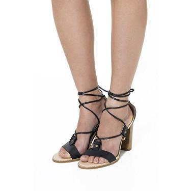 756c75095 Sandália Preto | Moda e Acessórios | Comparar preço de Sandália - Zoom