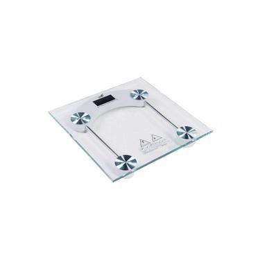 Balança Digital Vidro Temperado Para Banheiro Quadrada Capacidade 180 Kg -