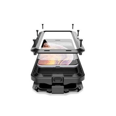 Capa Case armadura blindada iPhone 11 PRO / Iphone 11 / Iphone 11 PRO MAX reforçado c/ parafuso Anti Queda Shock Impacto Alumínio C/ película de vidro resistente Tank