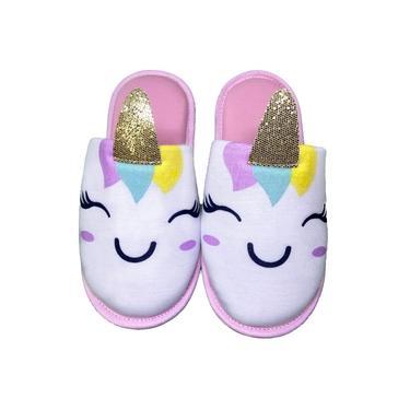 Pantufa Unicornio Glitter Infantil 20007