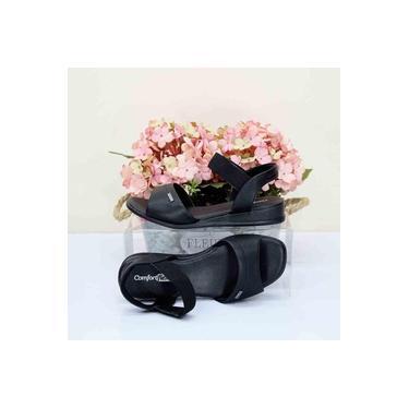 Sandalia Comfort Flex Preto/Preto Feminino 18-47404
