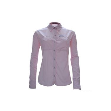Camisa Trek Fish Fem G Rosa Guepardo
