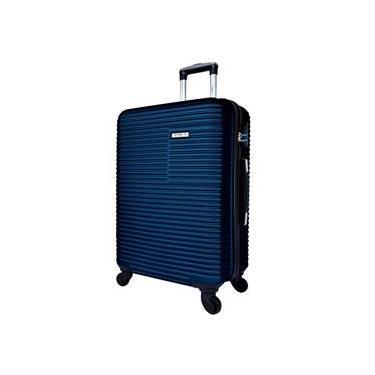 Mala Viagem Pequena ABS c/4 Rodinhas 360º Cadeado Azul Ys2039a