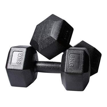 Dumbbell Eco-Friendly PVC Hex Dumbbell Men's 5kg / 6kg / 7.5kg / 10kg Dumbbell Home Fitness Equipment Suitable for Chest, Leg, Arm Training Fitness Dumbbell (Size : 7.5KG& LATT LIV