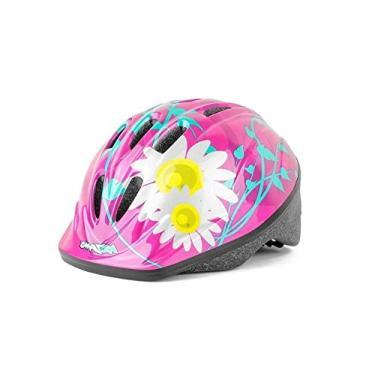Capacete Infantil Ciclismo Bike Kidzamo Flores Rosa Criança P