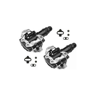 Pedal Bike Shimano Clip MTB PD M520 Preto Com Taquinhos XC