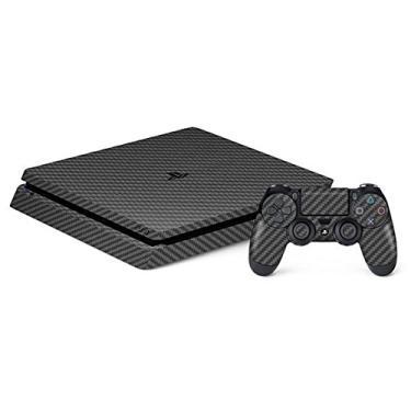 Skin Premium - Adesivo Fibra de Carbono Sony Playstation 4 Slim (Cinza)