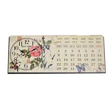 Imagem de Relogio Calendario De Mesa New York Vintage Retro Decoracao (XIN-06)