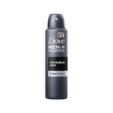 Desodorante Antitranspirante Aerosol Dove MEN+CARE 12 Unidades Invisible Dry 150ml