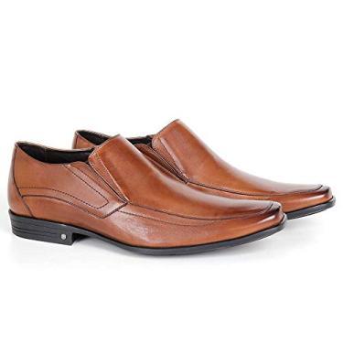 Sapato Conforto 2645 De Calçar Em Couro Bronze Savelli