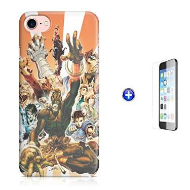 "Kit Capa Case TPU iPhone 8-4,7"" Street Fighter + Pel Vidro (BD01)"
