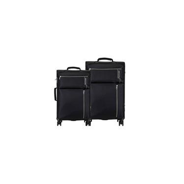 Conjunto de Malas Multilaser Travel Bags 4 Rodas 20 e 24 polegadas -  Preto - BO421