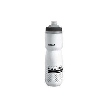 Garrafa CamelBak 710 ml com válvula exclusiva Jet Valve a prova de vazamento e trava de segurança Podium Chill Branco