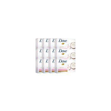 Kit Com 12 Sabonetes Dove Delicious Care Leite de Coco 90g