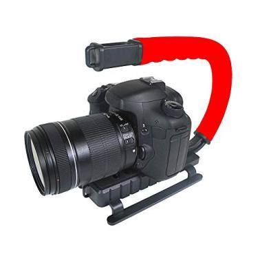 Imagem de Grip e Estabilizador de Mão para Filmar Esportes de Ação com Câmera DSLR Vídeo, Vivitar, Vermelho