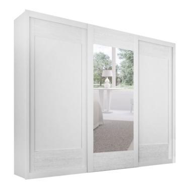 Guarda-Roupa Casal com Espelho Supreme Branco 3 Pt 6 Gv 262a5a1d3b4e9