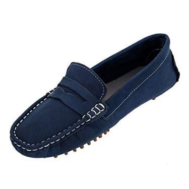 Sapato Mocassim Infantil Masculino Couro Selten Azul 29, Azul