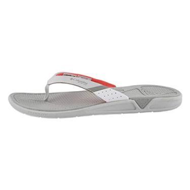 Sandália esportiva feminina Rostra PFG da Columbia, Grey Ice/Red Coral, 7