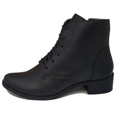 Bota Navit Shoes Lara Zíper Tratorada Preto  feminino