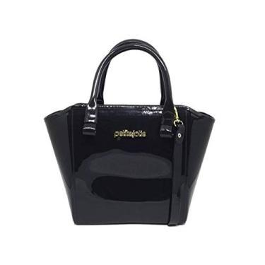 PJ3939 Bolsa Shopper Shape Bag Express Petite Jolie antiga PJ1770 (Preta)