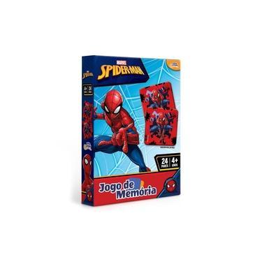 Imagem de Jogo de Memória Homem Aranha Marvel 24 Pares Brinquedo Educativo Toyster