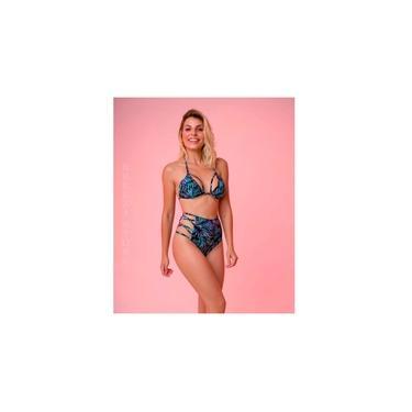 Biquini Com Bojo Cintura Alta Hot Pant Bella Flor 2020 Rosa P