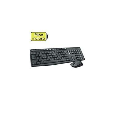 Kit wireless Combo Teclado e Mouse sem fio Logitech MK235 com Conexão USB, Pilhas Inclusas e Layout ABNT2 CX 1 UN