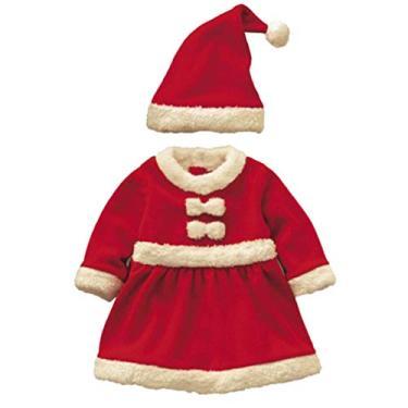 Imagem de Toyvian Fantasia de Papai Noel infantil de Natal para meninos e meninas (vermelho 150 cm)
